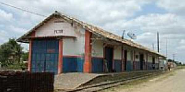 Petim-BA-Estação Ferroviária em 2008-Foto:Roosevelt Reis