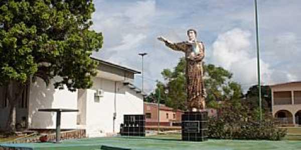 Pilão Arcado-BA-Imagem de Santo Antônio, Padroeiro da cidade-Foto:Christovam Lopes Regis Junior