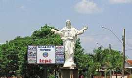 Iepê - Iepê-SP-Cristo na entrada da cidade-Foto:Eduardo Dantas