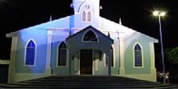 Igreja de Igaraí vista de noite por Ricardo Teixeira