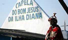 Ilha Diana - Ilha Diana-SP-Capela do Bom Jesus da Ilha de Diana-Foto:www.santos.sp.gov.br