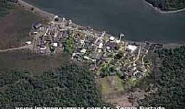 Ilha Diana - Ilha Diana-SP-Vista aérea do Povoado-Foto:www.imagensaereas.com.br