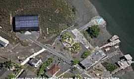 Ilha Diana - Ilha Diana-SP-Vista aérea do viveiro de Mudas da Ilha-Foto:www.imagensaereas.com.br