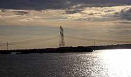 Ilha Solteira - Ilha Solteira-SP-Rio Paran� perto da Barragem-Foto:edsondelrio