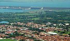 Ilha Solteira - Ilha Solteira-SP-Vista a�rea da cidade e ao fundo a Barragem-Foto:edsondelrio