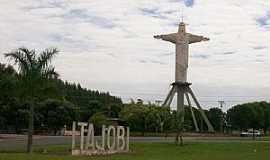 Itajobi - Itajobi-SP-Trevo de acesso à cidade-Foto:Nestor José Dias Filho
