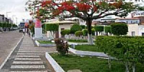 Praça Honorato Gonçalves em Pintadas-Foto:adailtondasilva