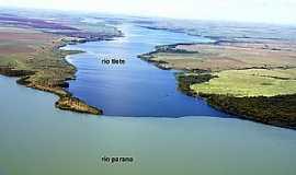Itapura - A confluência do Rio Tietê com o Rio Paraná é sem duvida um espetáculo da natureza.
