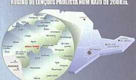 Lençóis Paulista - Mapa de Localização