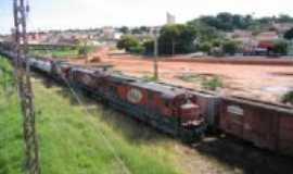 Limeira - Trem de Ferro entrando na cidade, Por Moacir Magusteiro