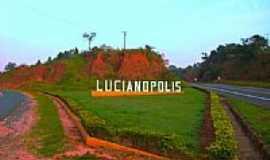 Lucianópolis - Entrada da cidade-Foto:Luciano Rizzieri