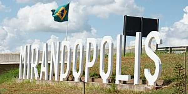 Mirand�polis-SP-Trevo de acesso-Foto:www.mirandopolis.sp.gov.br