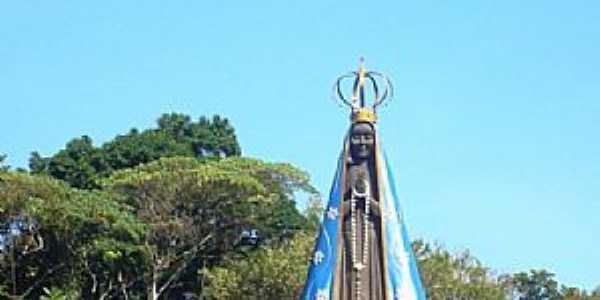 Mongaguá-SP-Imagem de N.Sra.Aparecida à 13 mts de altura-Foto:Marco .Mountain