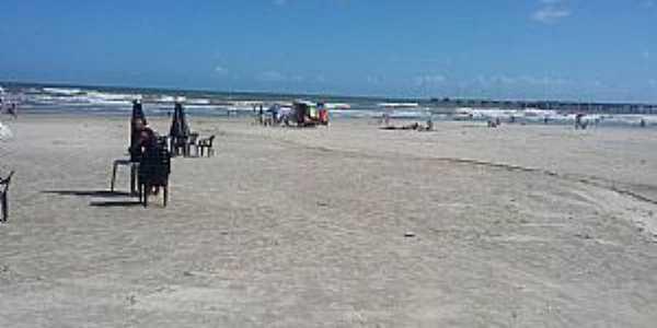 Mongaguá-SP-Praia ao lado da Plataforma-Foto:Conceição Savioli