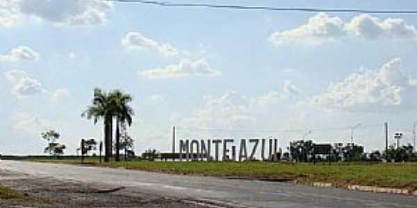 Monte Azul Paulista-SP-Trevo de acesso-Foto:Alexandre Bonacini