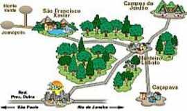 Monteiro Lobato - Mapa de Localização