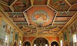 Nhandeara - Nhandeara-SP-Interior e teto da Matriz de São João Batista-Foto:Facebook