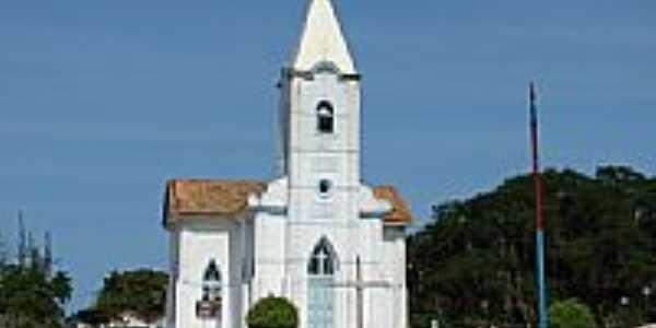 Igreja N.S. de Lourdes em Ponta da Areia, por Serjão.