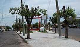 Novo Horizonte - Praça em estilo Oriental-Foto:LuziACruzFrata