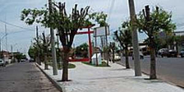 Praça em estilo Oriental-Foto:LuziACruzFrata