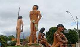 Porto Seguro - Porto Seguro-BA-Homenagem aos Índios na Praia do Mutá-Foto:LUIS MACEDO