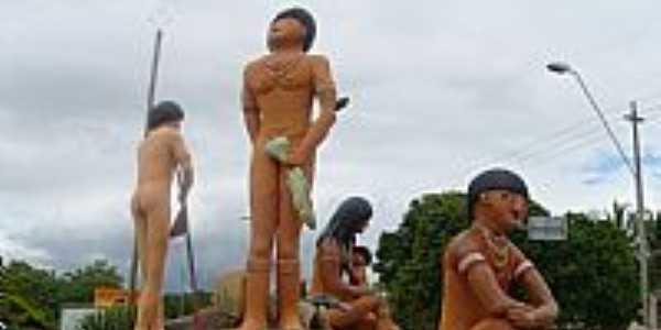 Porto Seguro-BA-Homenagem aos Índios na Praia do Mutá-Foto:LUIS MACEDO