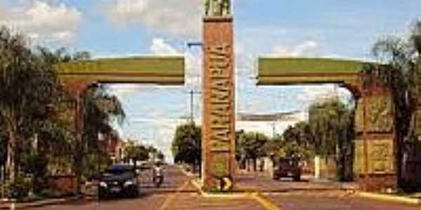 Pórtico de entrada de Paranapuã-Foto:folhanoroeste.