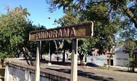 Pindorama - Pindorama-SP-Placa na Estação Ferroviária-Foto:Douglas Razaboni