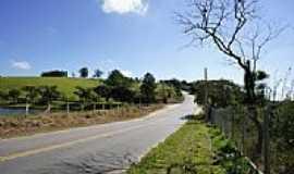 Pinhalzinho - Estrada ao lado da Represa de Pinhalzinho-Foto:Ernandes C Santos