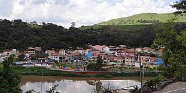 Pirapora do Bom Jesus-SP-Vista do Rio Tietê e a cidade-Foto:carlos.kardoso