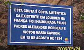 Porto Feliz - Porto Feliz-SP-Identificação da Gruta de N.Sra.de Lourdes-Foto:LuziACruzFrata