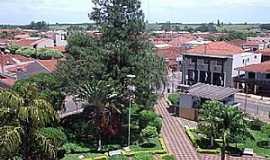 Potirendaba - Potirendaba-SP-Vista da praça central e Prefeitura-Foto:Fabricio Peres