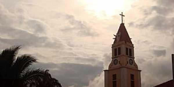 Potirendaba-SP-Torre da Matriz do Senhor Bom Jesus-Foto:Fabricio Peres