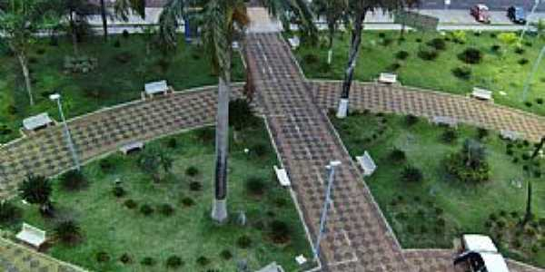 Potirendaba-SP-Vista aérea da Praça da Matriz-Foto:Fabricio Peres