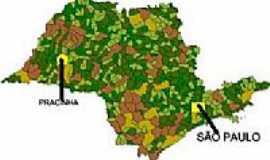 Pracinha - Mapa de Localização - Pracinha-SP