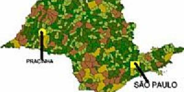 Mapa de Localiza��o - Pracinha-SP