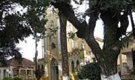 Presidente Alves - Pra�a e Igreja Matriz de Santa Cec�lia em Presidente Alves-SP-Foto:Wilson Alcaras