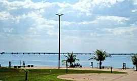 Presidente Epit�cio - Presidente Epit�cio-SP-Orla da Represa e a Ponte H�lio Serejo no Rio Paran�-Foto:Edmilson Cano(FaceBook)