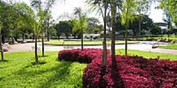 Praça da fonte em Regente Feijó-Foto:J. Paulo Santana