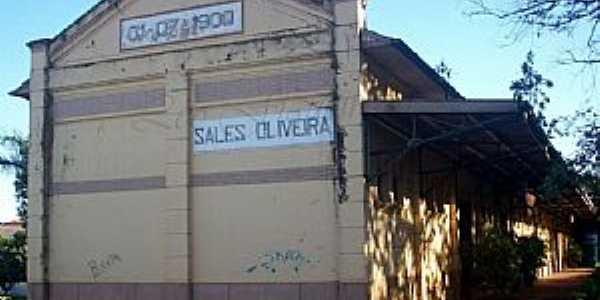 Sales de Oliveira-SP-Antiga Estação Ferroviária-Foto:Leonardo Figueiredo