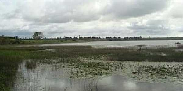 Junqueiro-AL-Lagoa no Bairro Retiro,margeada por junco-Foto:www.wikialagoas.al.