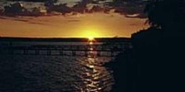 Santa Maria da Serra-SP-Pôr do Sol na Represa do Rio Piracicaba
