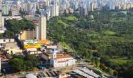 São José dos Campos - vista aérea da Igreja Matriz e o Banhado, Por Josefa Lacerda