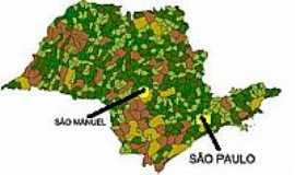 S�o Manuel - Mapa de Localiza��o - S�o Manuel-SP