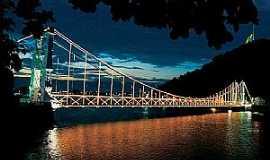São Vicente - Ponte Pensil em São Vicente - SP
