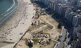 S�o Vicente - Vista a�rea da Praia de Itarar� em S�o Vicente-Foto:Sergio Delmonico
