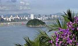 São Vicente - Vista da cidade de São Vicente-Foto:Sergio Delmonico