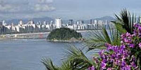 Vista da cidade de São Vicente-Foto:Sergio Delmonico