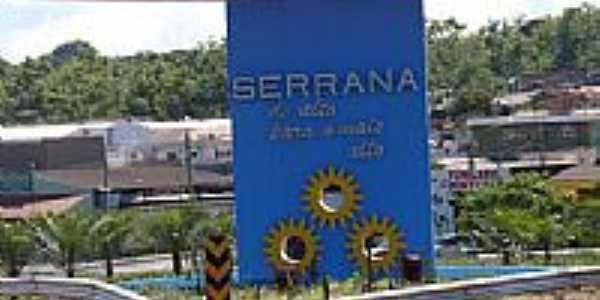 Serrana-SP-Detalhe do P�rtico de entrada da cidade-Foto:Alexandre Bonacini