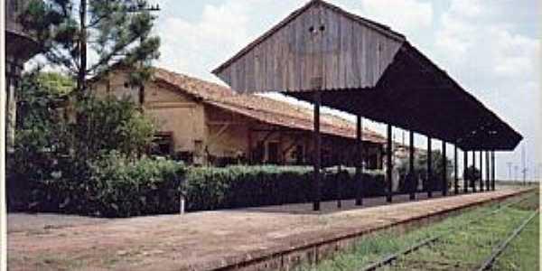 Silvânia-SP-Estação Ferroviária em 2009-Foto:Luiz Antonio Neri